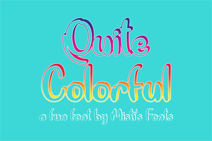 Quite Colorful Font design graphic