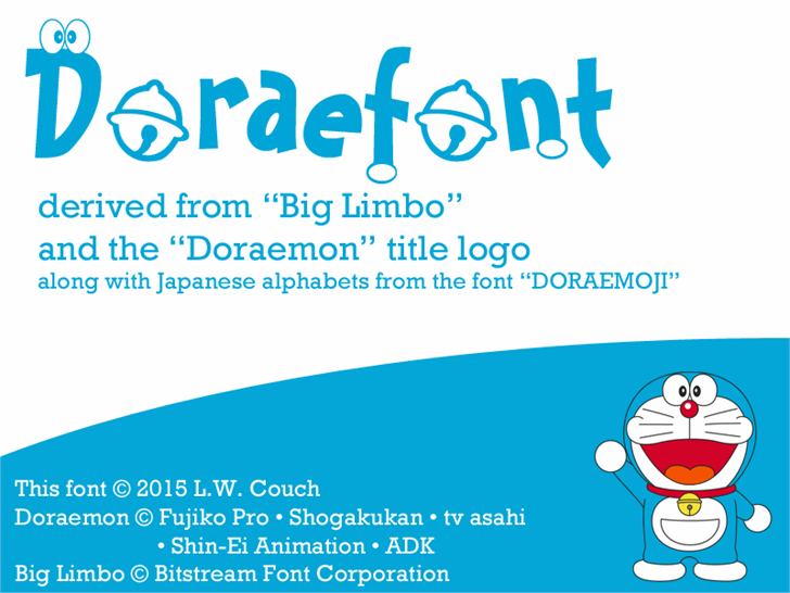 Doraefont text cartoon