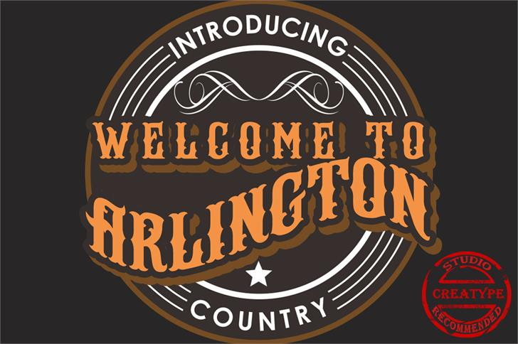 Arlington DEMO Font design typography