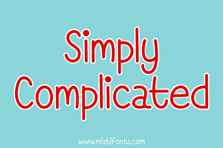 Simply Complicated font by Misti's Fonts