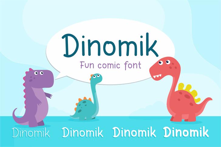 Dinomik Semibold Font poster