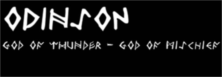 Odinson Font design text
