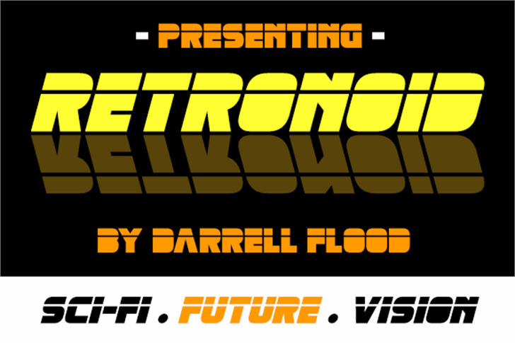 Retronoid Font screenshot poster