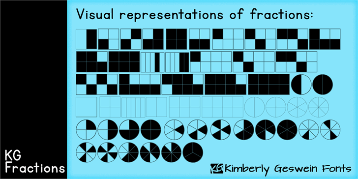 KG Fractions font by Kimberly Geswein