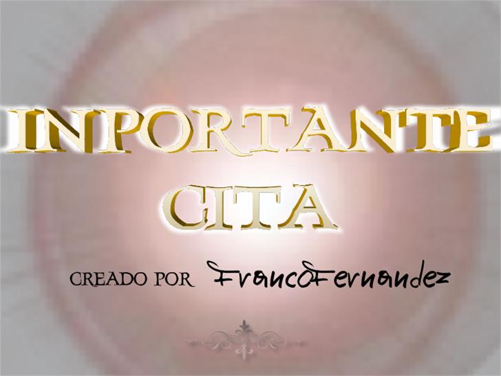 InportanteCita Font text design