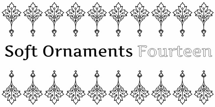 Soft Ornaments Fourteen Font drawing cartoon