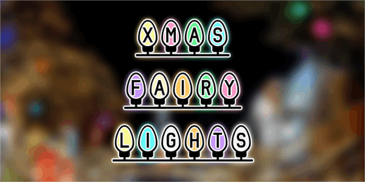 Xmas Fairy Lights font by Chequered Ink