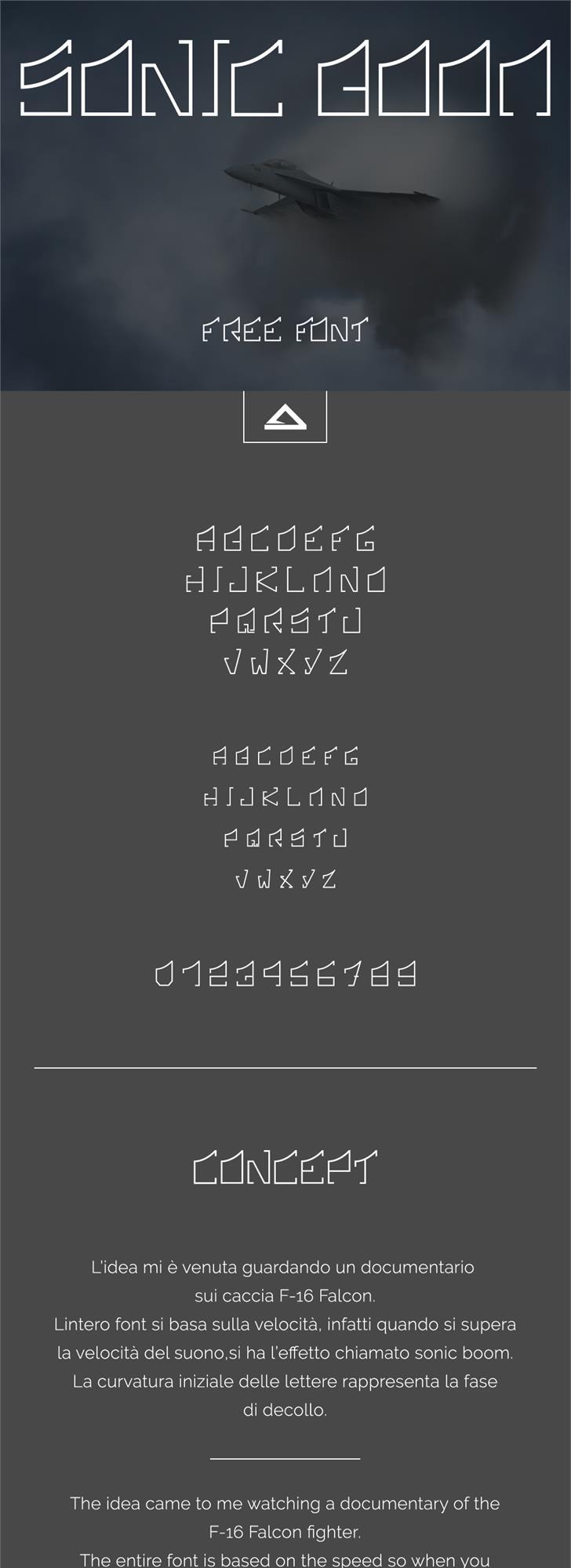 Sonic Boom Font screenshot design