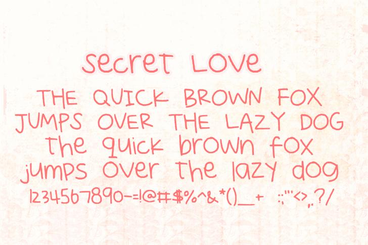 Secret Love Font handwriting text