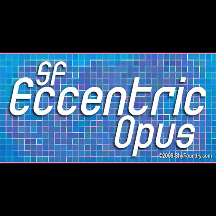SF Eccentric Opus Font screenshot design