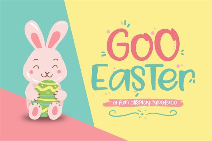 Goo Easter Font cartoon illustration