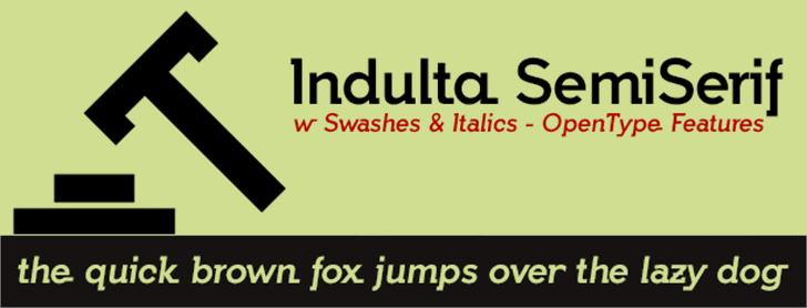 Indulta SemiSerif Font screenshot graphic