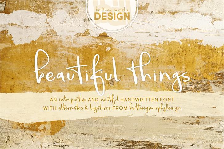 Beautiful Things Font handwriting text