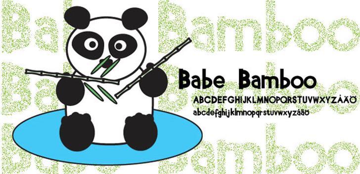 Babe Bamboo font by Fontomen