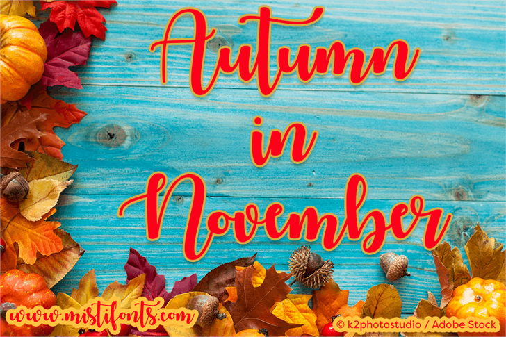 Autumn in November font by Misti's Fonts