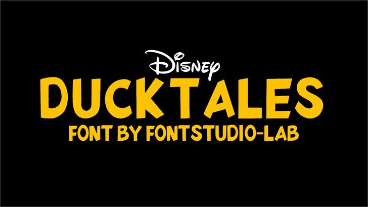 DuckTales Font design graphic