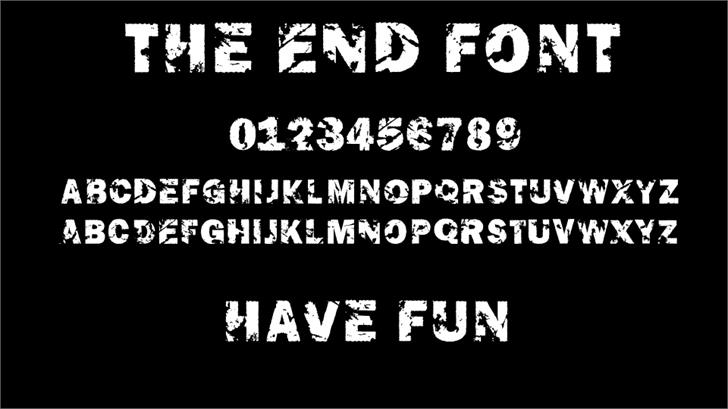The End Font screenshot typography