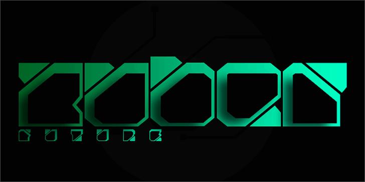 Zuber future Font screenshot design
