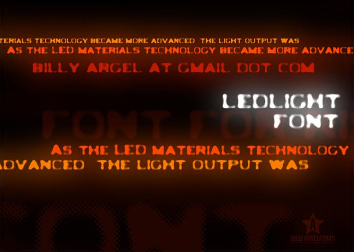 LEDLIGHT Font screenshot text