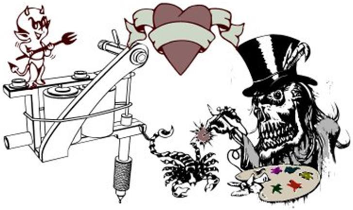 Tattoo Parlour Font cartoon drawing