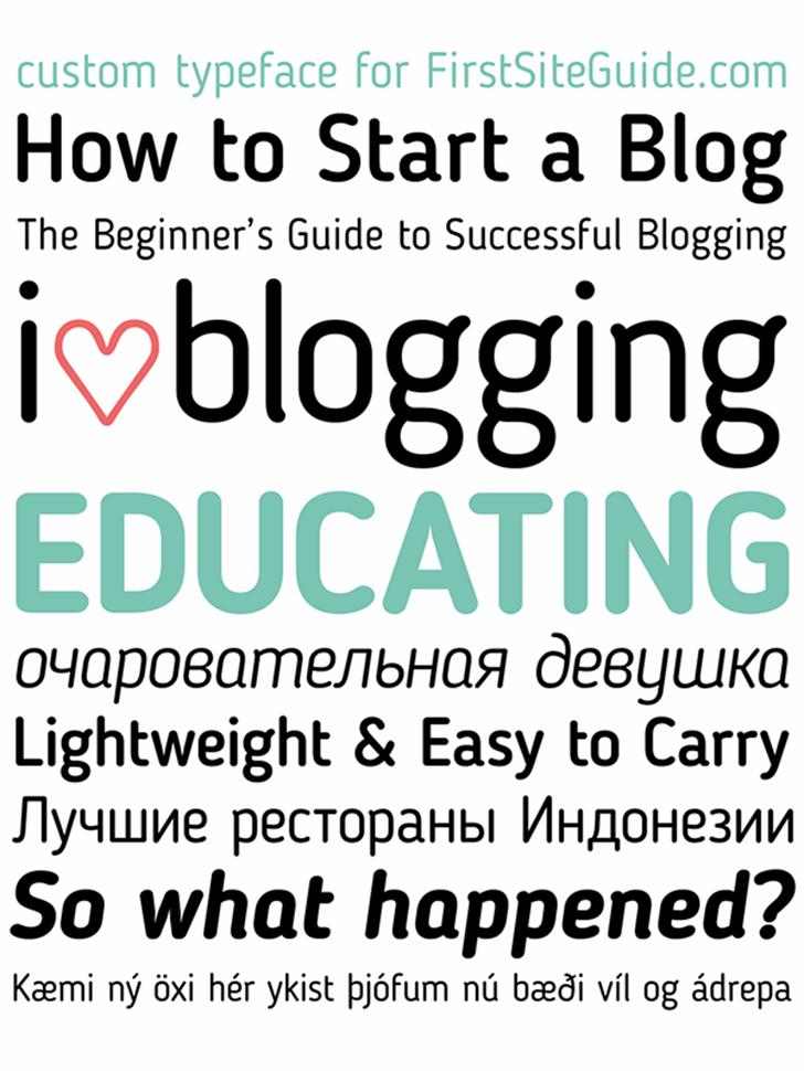 Blogger Sans Font design font