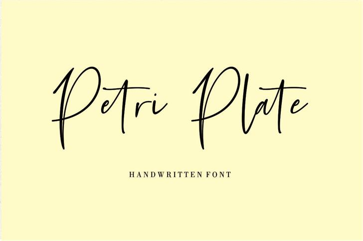 Petri Plate Font handwriting design