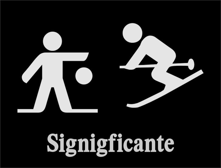 Signigficante Font design graphic