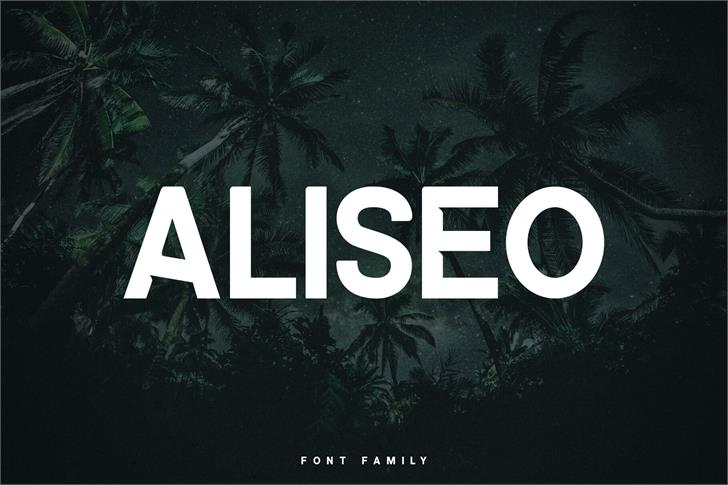 ALISEO Font palm tree text
