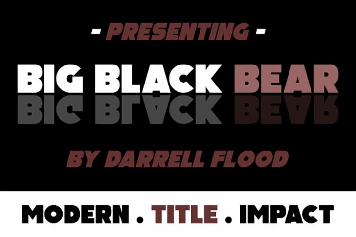 Big Black Bear Font poster screenshot