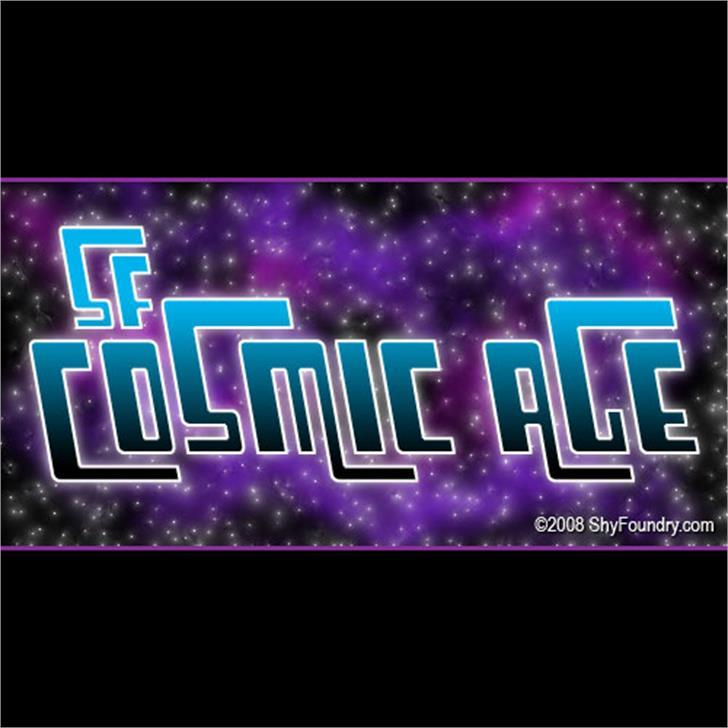 SF Cosmic Age Font screenshot graphic design