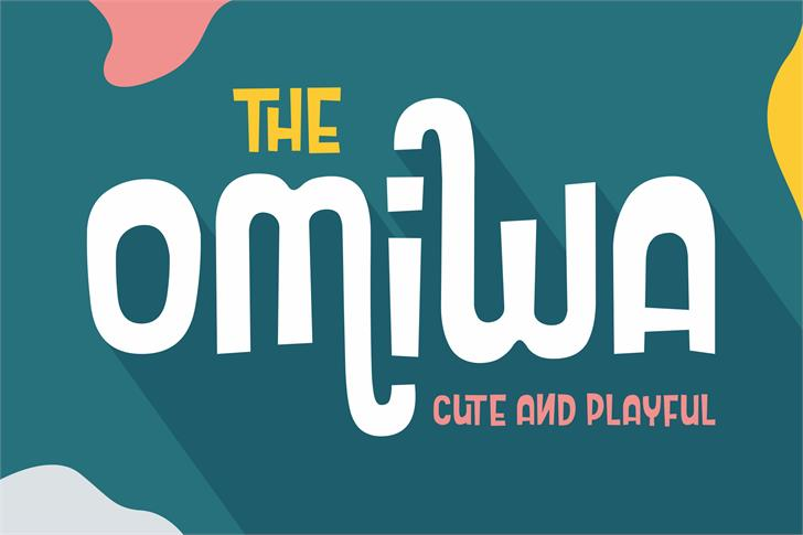 Omiwa Cute and Playful Font poster