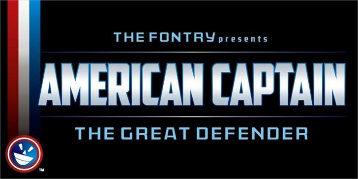 American Captain Font screenshot text