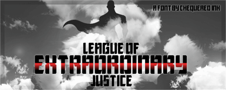 League of Extraordinary Justice Font smoke sky