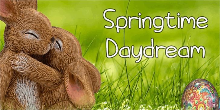 Springtime Daydream Font grass outdoor