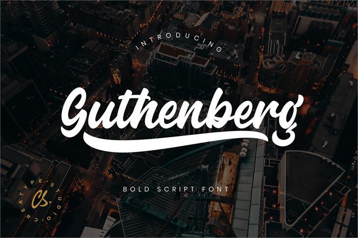 Guthenberg font by Creatype Studio