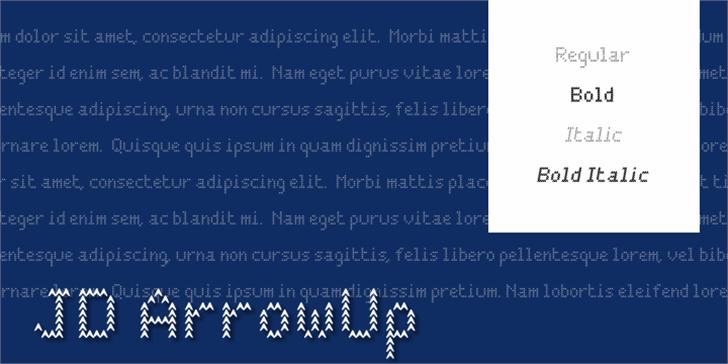 JD ArrowUp Font design typography