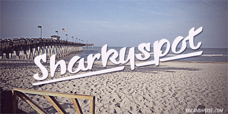 Sharkyspot font by Roland Huse Design