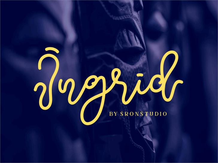 Ingrid Font screenshot design