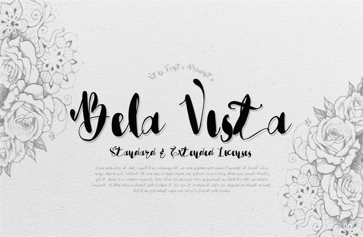 Vtks Bela Vista Font text handwriting