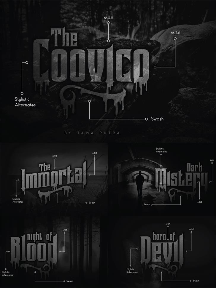 Coovico Personal Use Font screenshot poster