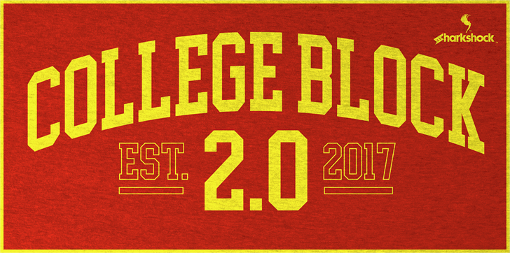 College Block font by sharkshock