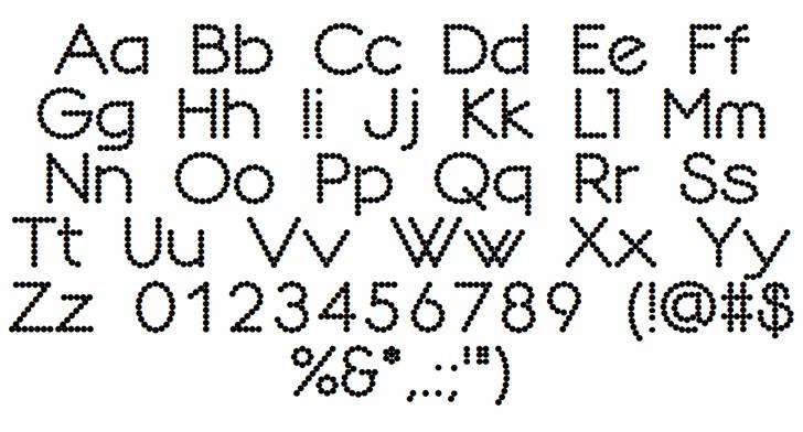 Dotline font by Honey & Death