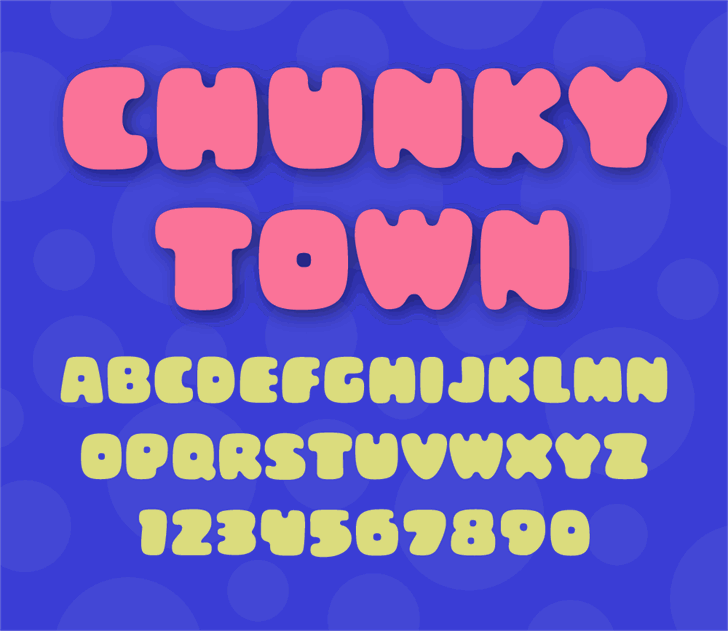Chunky Town Demo Font cartoon