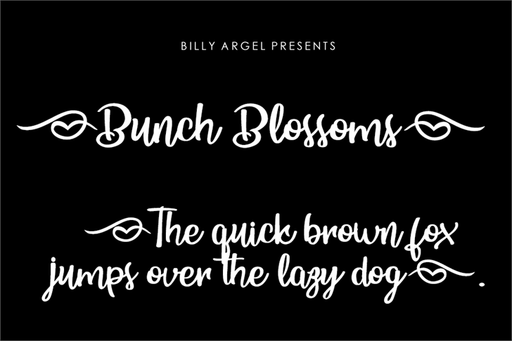 Bunch Blossoms Personal Use Font text design