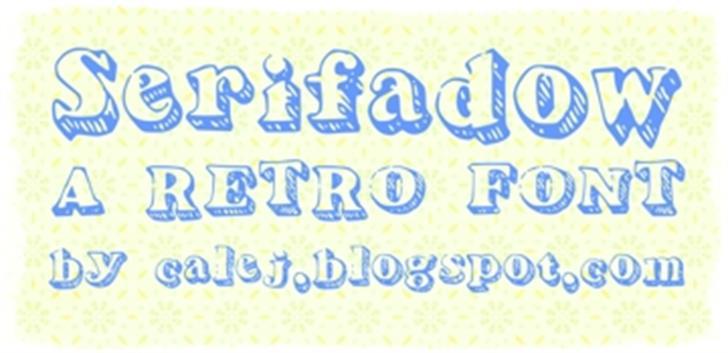 Serifadow Font handwriting typography