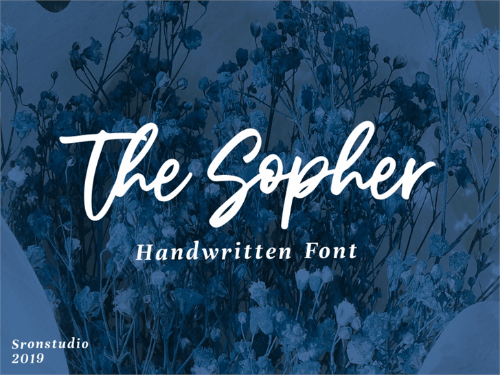 The Sopher Font poster