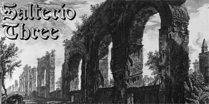 Salterio Three font by Intellecta Design