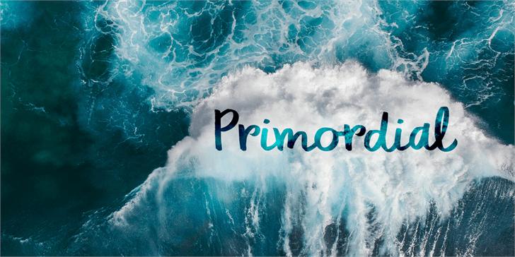 DK Primordial font by David Kerkhoff