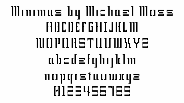 Minimus font by Mechanismatic