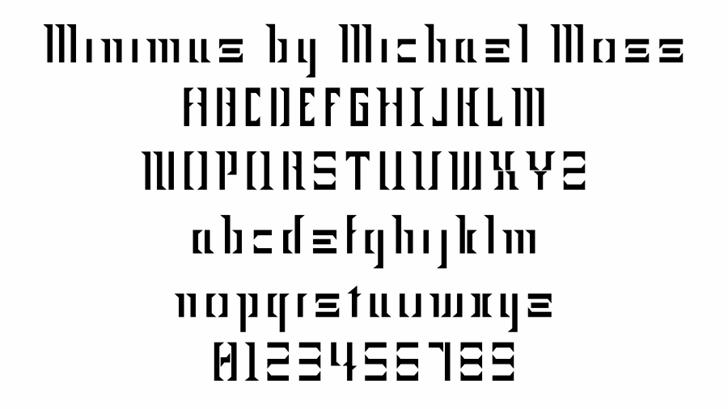 Minimus Font font screenshot